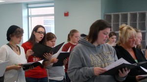 The altos singing their hearts out on their piece, Chinchester Psalms, by Leonard Bernstein!