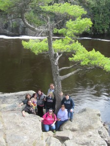 PHOTO PROVIDED BY THE ART CLUB. Cambridge Art Club members visit the Franconia Sculpture Park