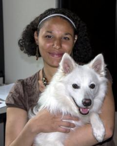 PHOTO BY LAUREN KASTNER Angelina Warner with her dog, Kanji