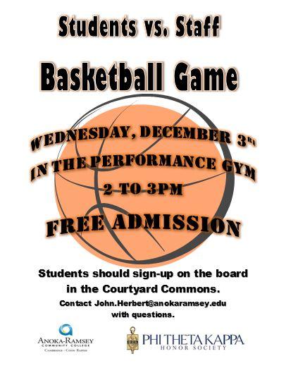 PTK StudentsvStaff Basketball Game