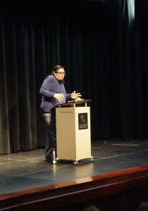 R. Vincent Moniz Jr. describes parts of his life through his poetry. Photo Credit: Mary Schmitt