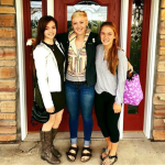 PSEO students Liz Saby, Mikaela Obert and Brook Wedin on their first day of classes at ARCC. Photo Credit: Liz Saby
