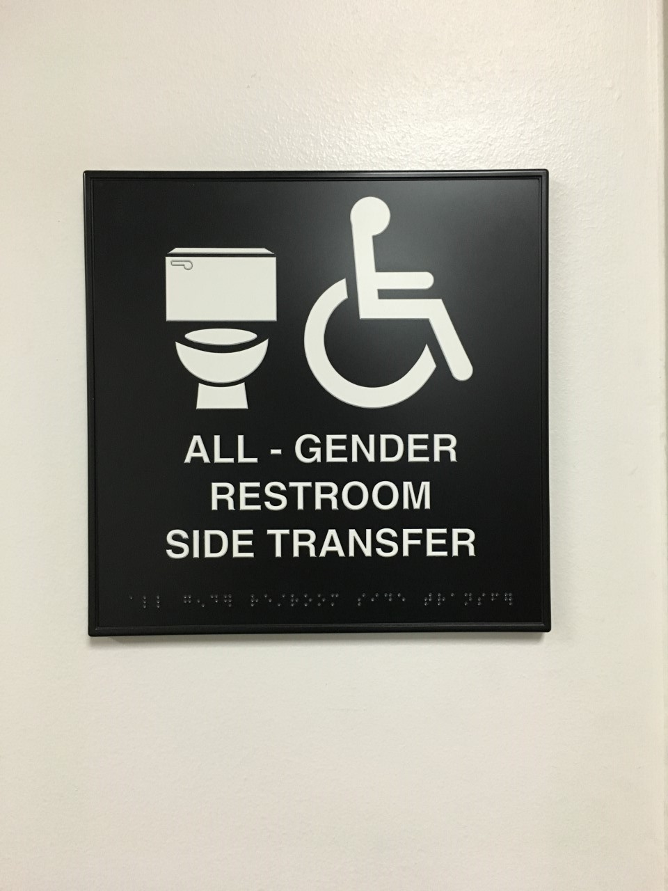 """The new """"all-gender"""" bathrooms throughout ARCC campus."""