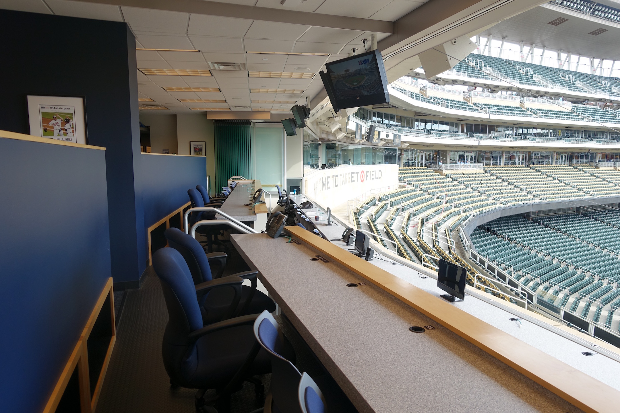 The view from the press box at Target Field. Photo Credit: Ryan Schaal