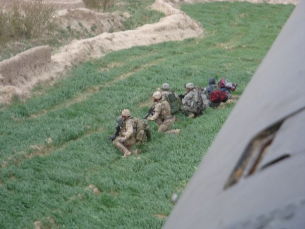Austin's crew had just dropped troops on the ground in Afghanistan