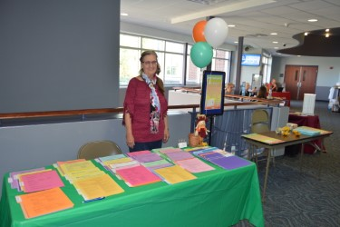 Isabelle Schmidt represents career counseling for students at transfer day. Photo Credit: Maiya Fair
