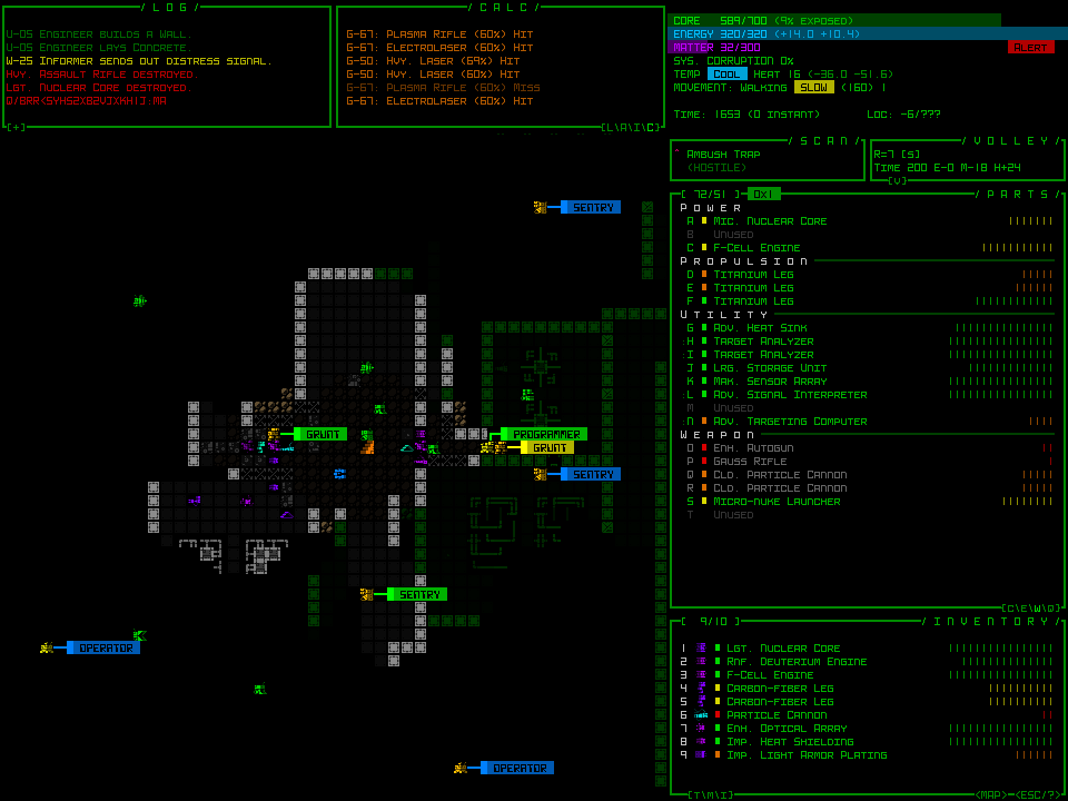 Cogmind provides engaging game play even with the old style graphics. Photo Credit: GridSageGames