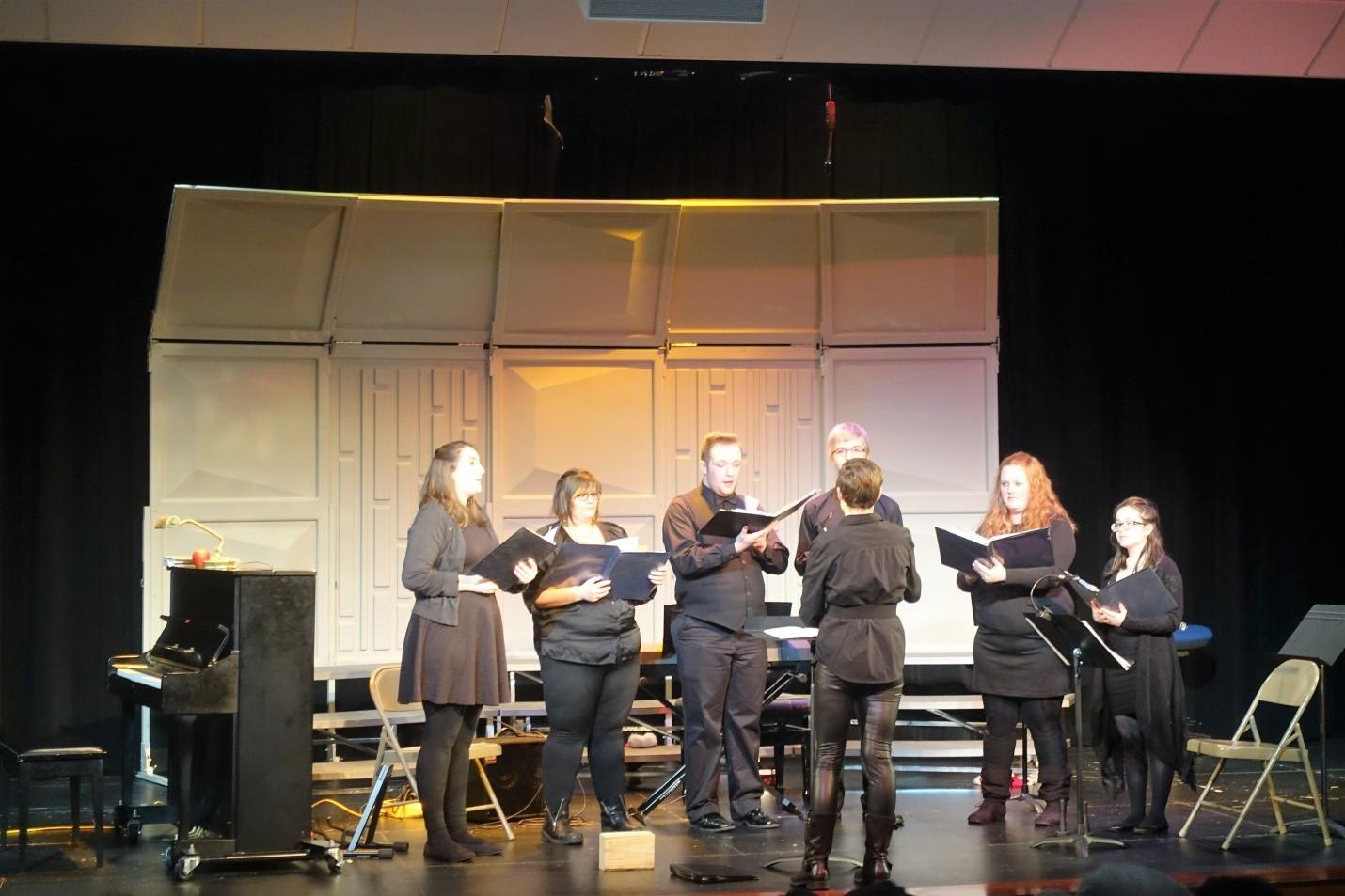 "The Acapella Club sings their solo ""A Joyful Ba-da-ba!"" Photo Credit: Regina Zabinski"