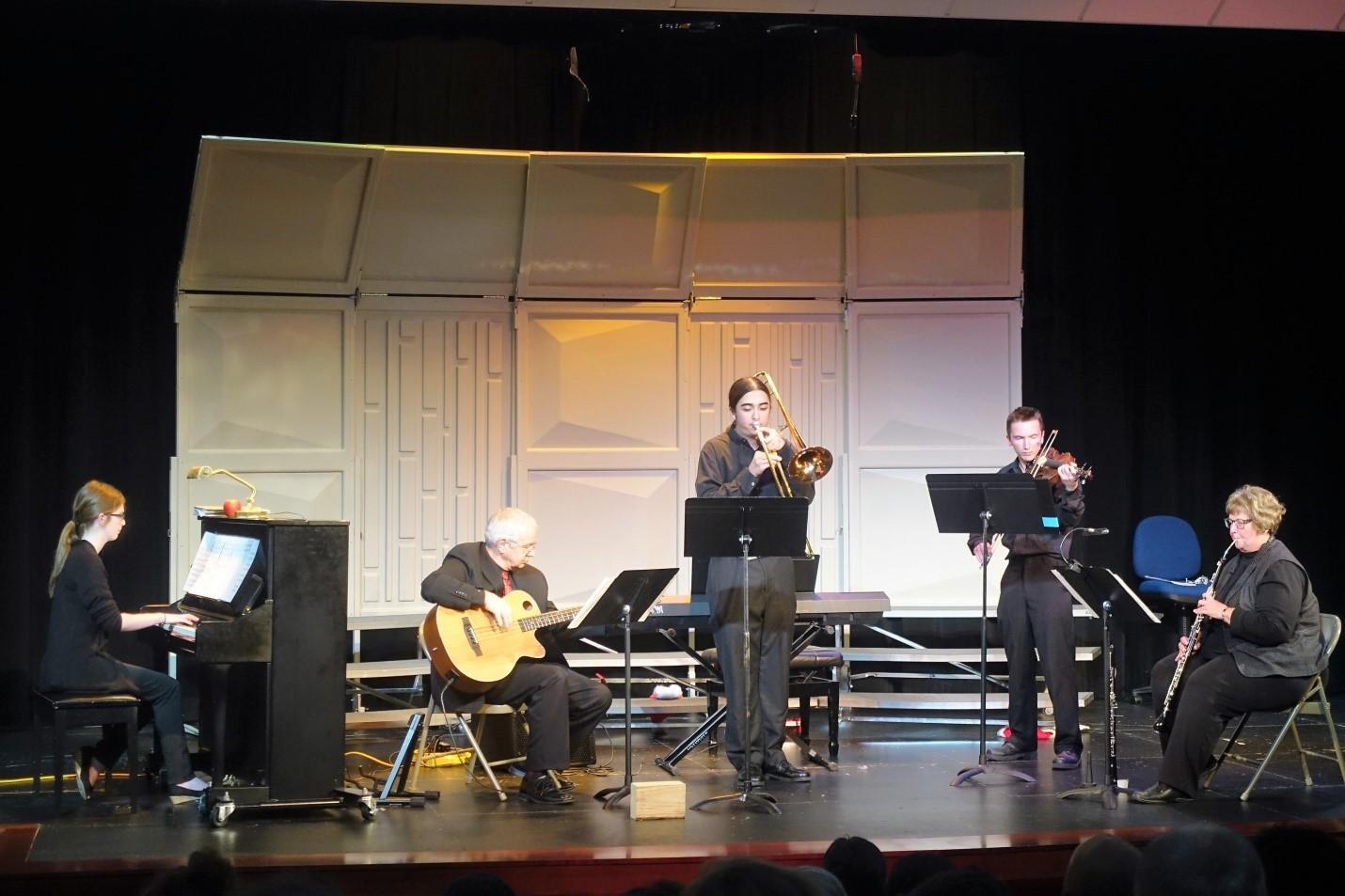 "Classic jazz ""Blue Skies"" is performed by the Chamber Ensemble. Photo Credit: Regina Zabinski"