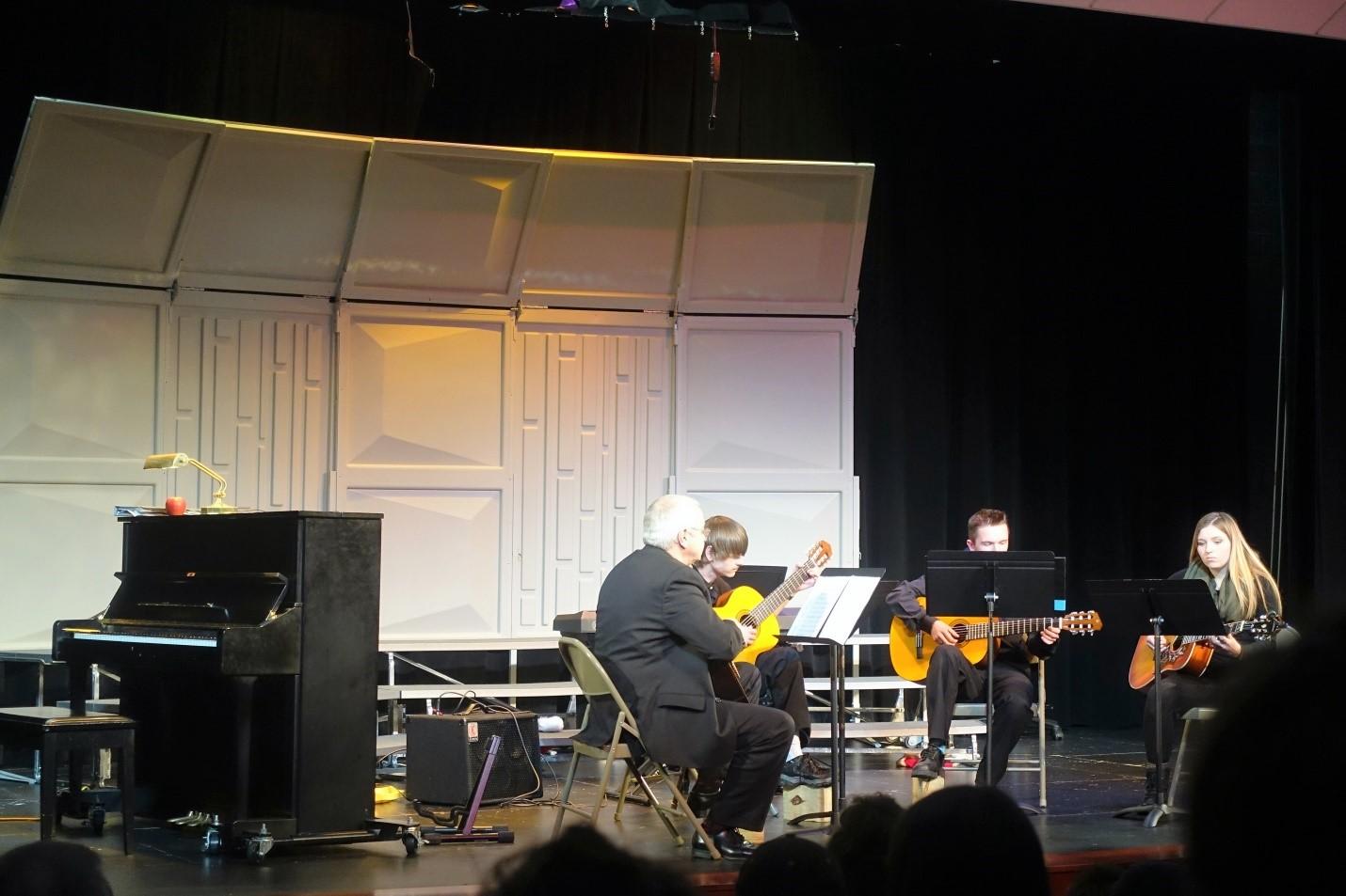 Latin salsa, European folksong, and Japanese kyoto--the Guitar Ensemble has it all. Photo Credit: Regina Zabinski