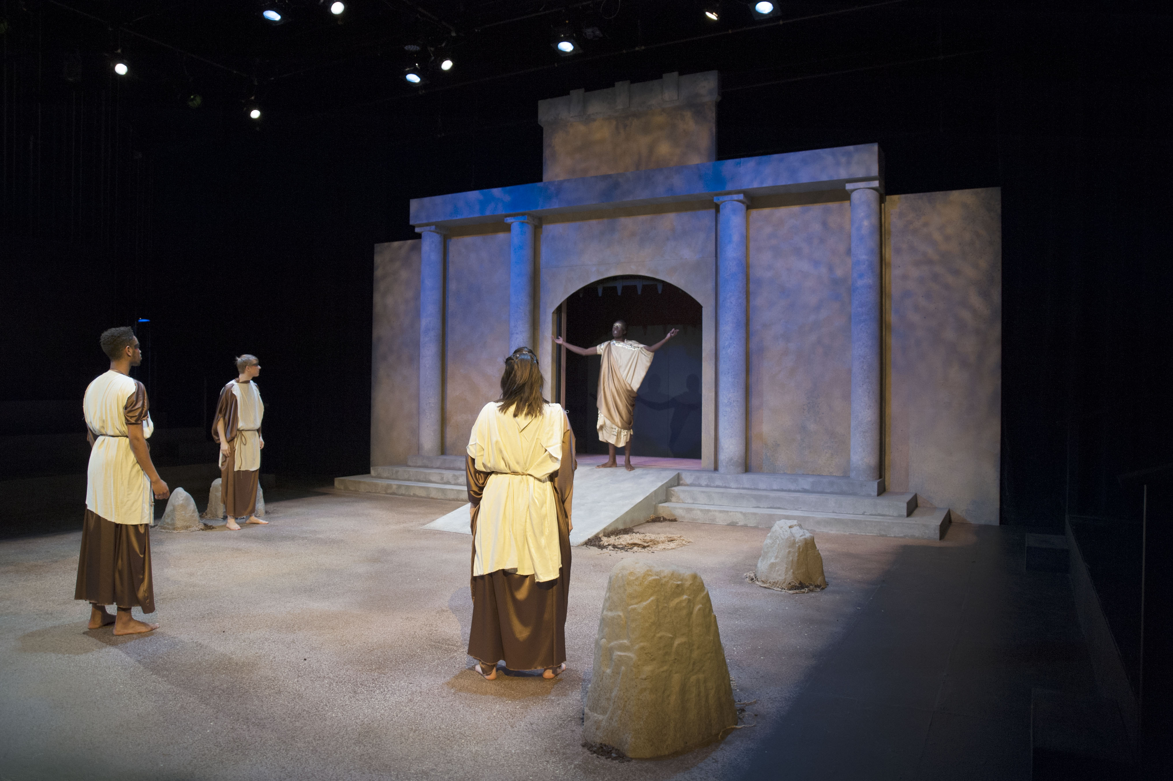 debate between creon and antigone and polynices body properly buried Antigone asks her sister to help her bury their brother properly, but ismene refuses, and antigone does it by herself  creon raised antigone, ismene, polynices .